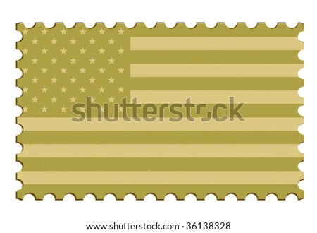 US Vector Postage Stamp - stock vector