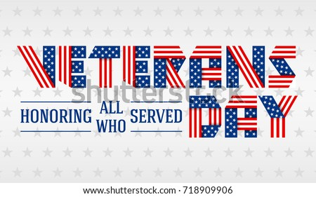 us veterans day greeting card