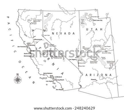 US west coast map