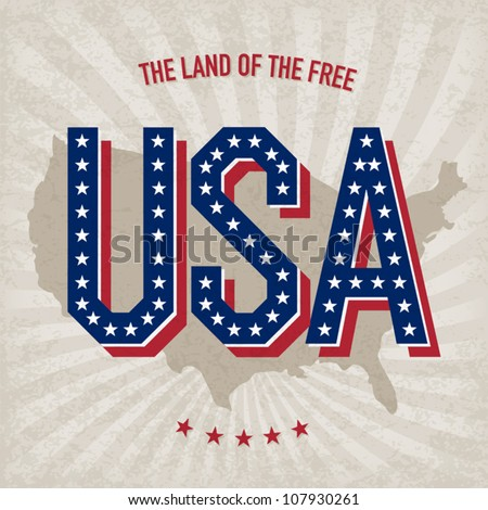 USA abstract poster design, vector, EPS10