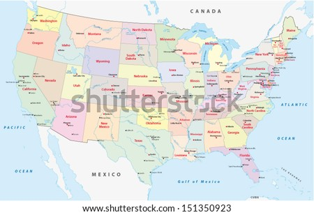 usa administrative map #151350923