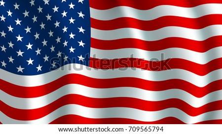 usa america flag vector us