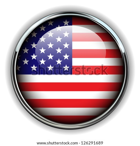 USA, american flag button