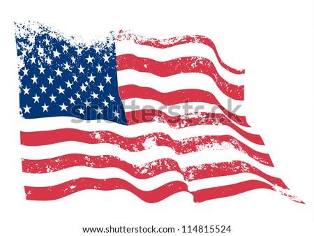 USA American grunge flag.