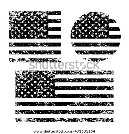 usa american grunge flag set