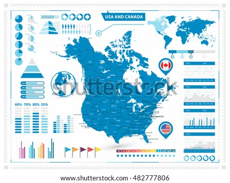 Canada Map Vector Download Free Vector Art Stock Graphics Images - Us canada map