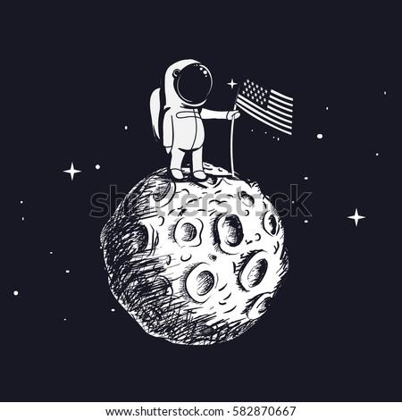 usa astronaut explored the moon