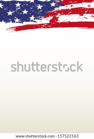 USA Background. A header paper with the american flag