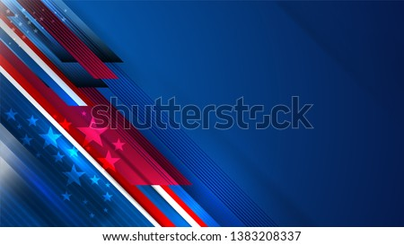 USA background for independence, veterans, labor, memorial day and events, Vector illustration Design