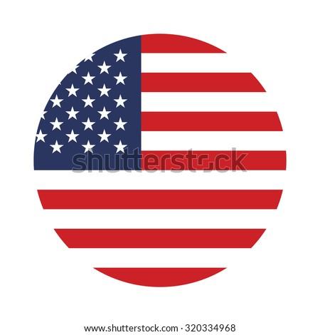 USA button flag