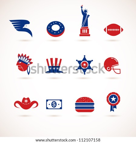usa   collection of vector icons