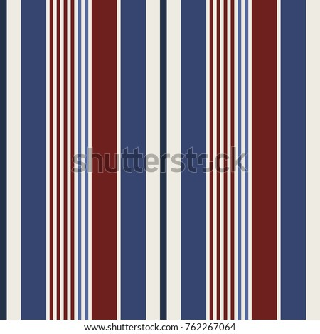 usa color style red and blue striped background on the cover and fabric