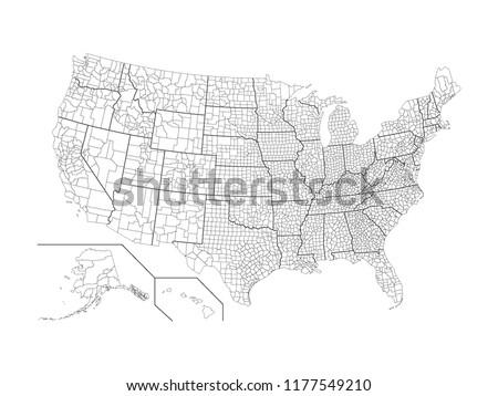 USA County Map