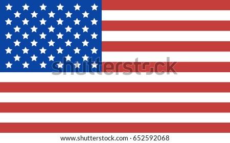 USA flag. #652592068
