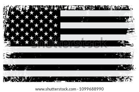USA flag background.Grunge American flag for Independence Day. Vector illustration. #1099688990
