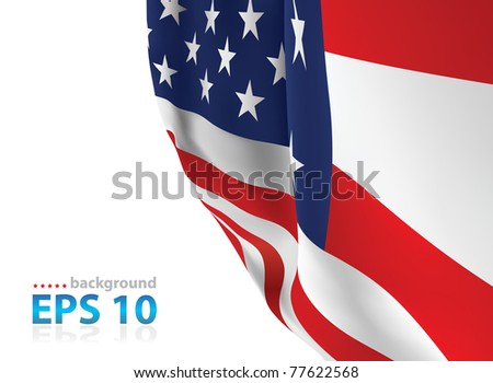 USA flag close up vector