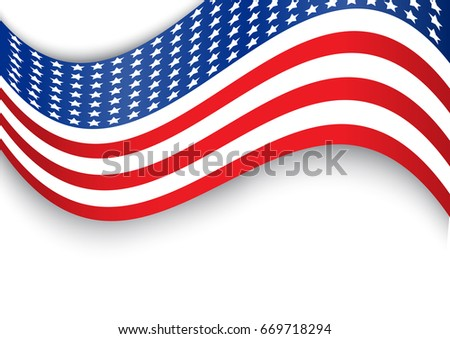 Usa flag design that can use to represent independence day or memorial day event. This provides empty space on the top and bottom for text. #669718294