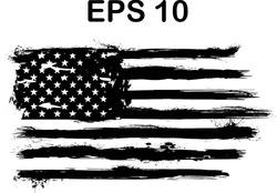 USA Flag. Distressed american flag with splash elements, flag of america, patriot, military flag,