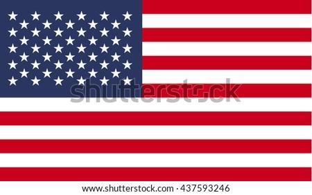 USA flag. flag of United States of America