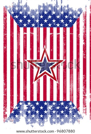 USA flag grunge. A distressed american flag for a background