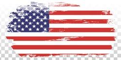 USA flag grunge, distress American flag