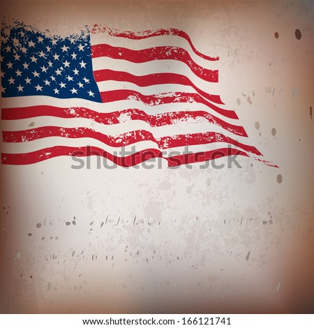 usa flag grunge old textured...