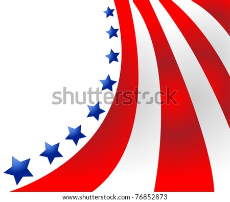 USA flag in style vector - stock vector