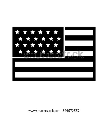 usa flag isolated icon #694572559
