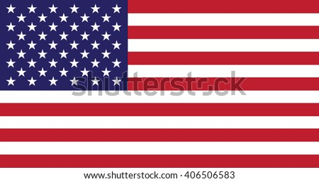 USA flag - isolated vector #406506583