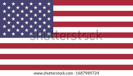 usa flag national red star blue America