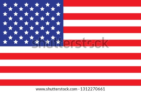 USA flag. Simple vector The United States of America flag #1312270661