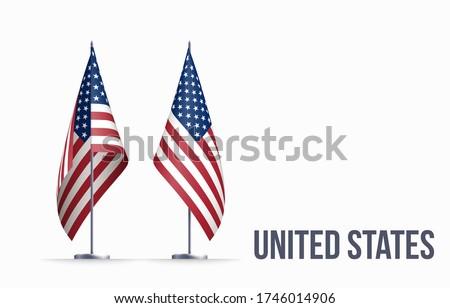 usa flag state symbol isolated