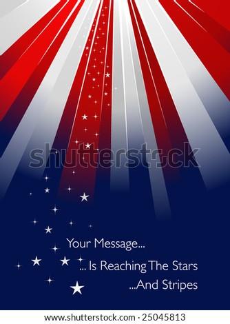 USA flag style sunburst