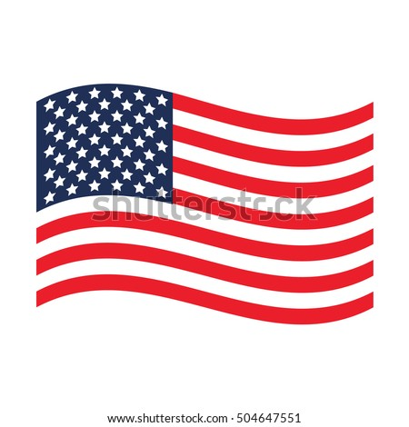 USA flag. United States America. USA flag icon