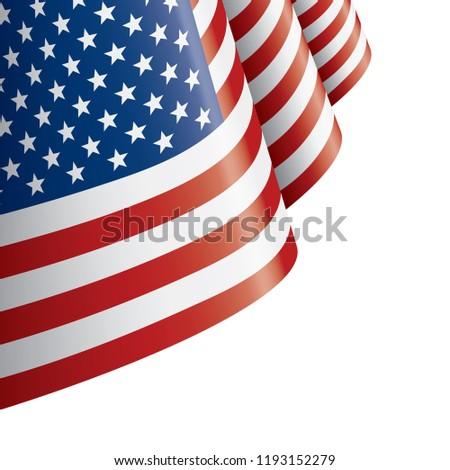 USA flag, vector illustration on a white background #1193152279