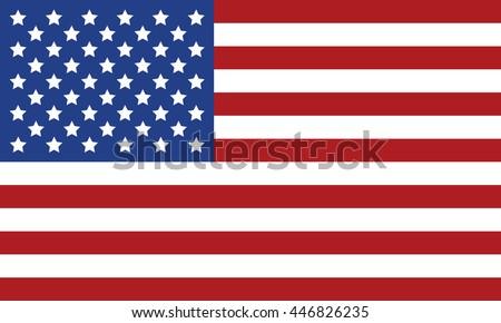 USA flag vector image #446826235