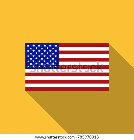 USA Flag. Vector image of USA flag. USA flag background. USA Flag illustration. The Star-Spangled Banner. The color and size of the original. United States of America. United States. America. Vector.