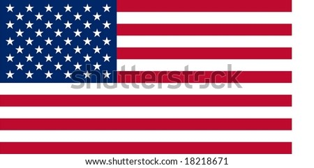 USA flag with blank space on the right - if you are looking for a vector illustration without blank space on the right please download http://www.shutterstock.com/pic.mhtml?id=18831658 - stock vector