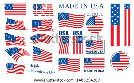 USA Flags Collection Vector Best