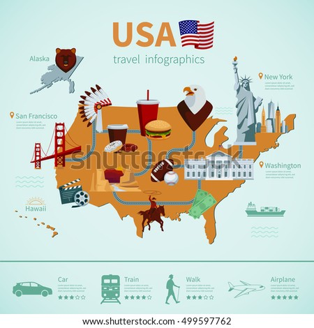 usa flat map travel