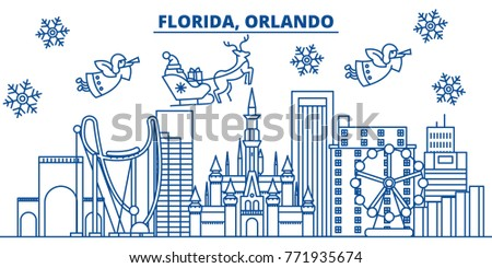 usa  florida  orlando winter