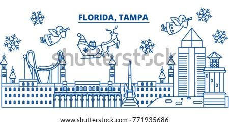 usa  florida  tampa winter city
