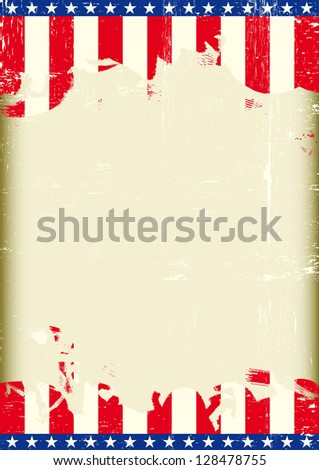 USA Grunge flag. A poster with a large scratched frame and a grunge us flag for your publicity.