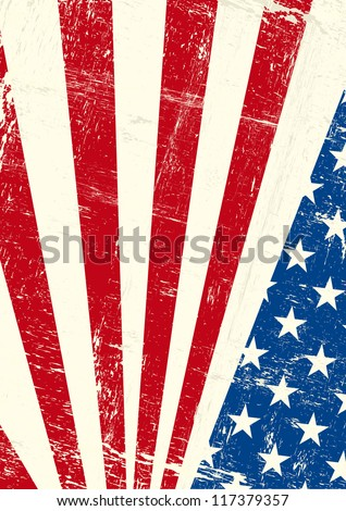 USA  grunge poster. An american grunge flag for you