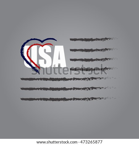 usa i love america vector