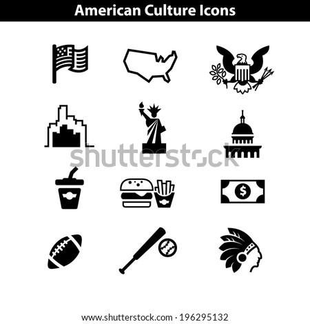 usa icon set american landmarks