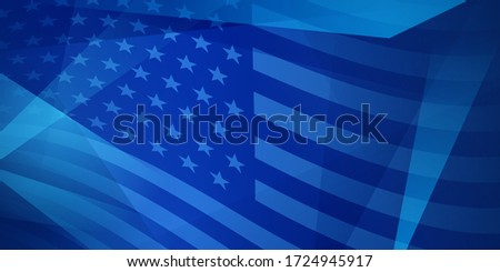 USA independence day abstract background with elements of the american flag in blue colors Stock photo ©