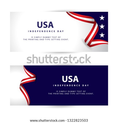 USA Independence Day Vector Template Design Illustration