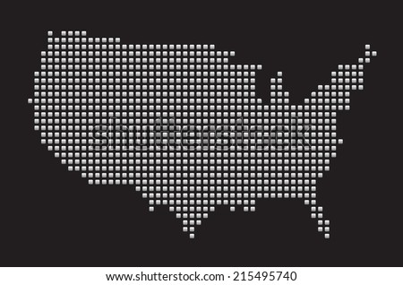 Free US Map Silhouette Vector - Usa map vector