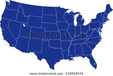 States Outlines Silhouette Vector - Download Free Vector Art, Stock ...